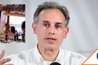 #WTF: Aparece López-Gatell en Huatulco sin cubrebocas… Lo revientan en redes