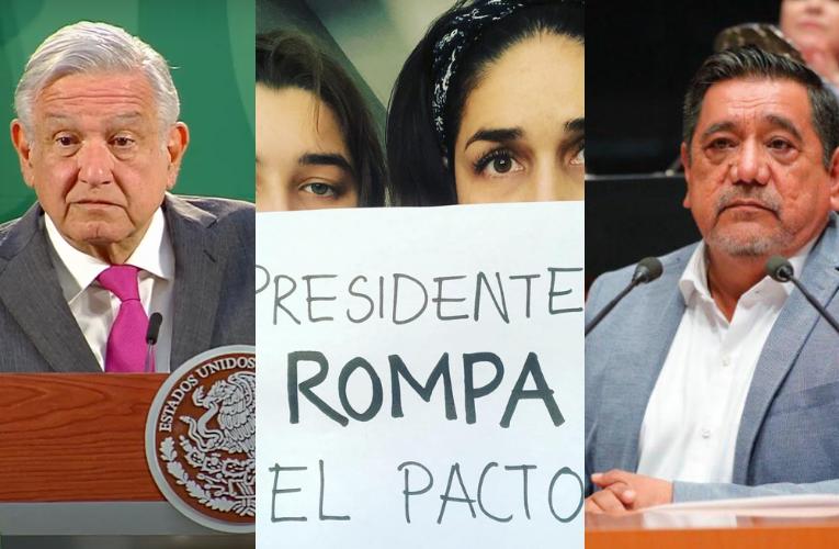 """AMLO dice que 'Rompe el Pacto' son """"expresiones importadas""""; defendió candidatura de Salgado (otra vez)"""