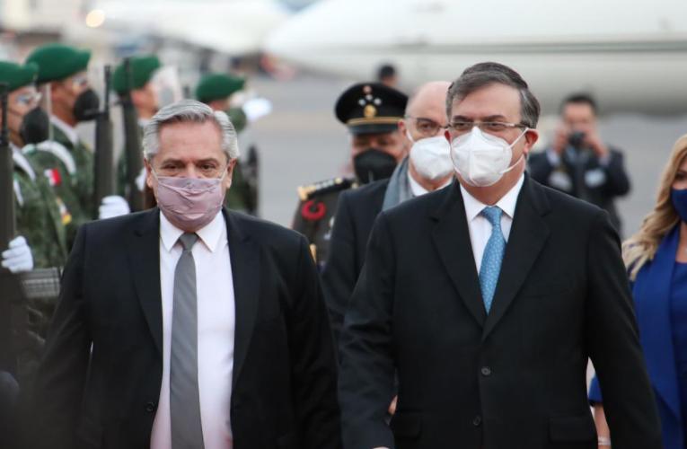 El presidente de Argentina, Alberto Fernández, llegó a México para una visita oficial