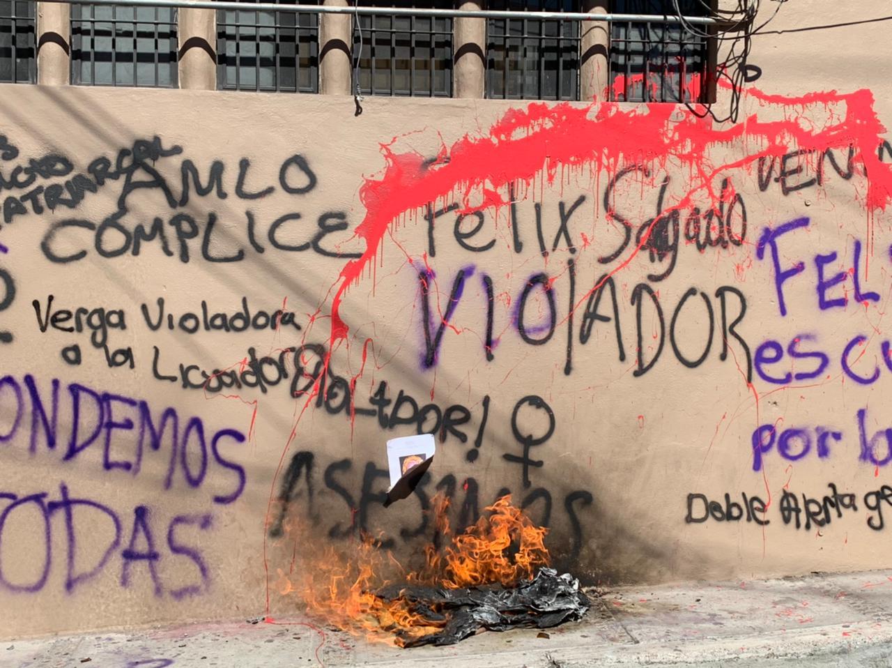 Mujeres protestan en Guerrero, por la candidatura de Félix Salgado Macedonio